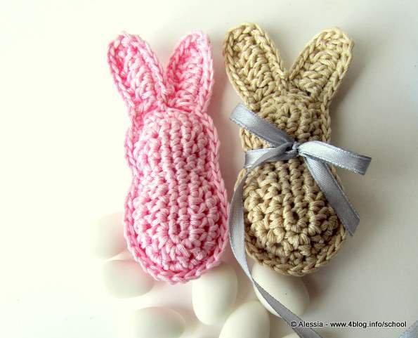 Pattern schema per realizzare i coniglietti imbottiti - bomboniera battesimo o baby shower