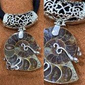 Ciondolo in Bellissima Ammonite