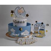 Kit nascita, regalo nascita. bomboniere, torta di caramelle, iniziale 3d,  cioccolatini personalizzati