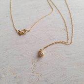 Collana oro giallo 18 carati con diamante