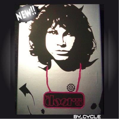 QUADRO_CELEBRITY Jim Morrison argento+applicazione.