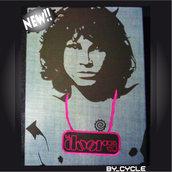 QUADRO_CELEBRITY Jim Morrison denim+applicazione.
