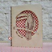 Quaderno con copertina di legno