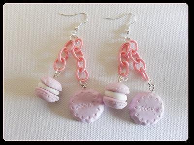 orecchini pendenti cookie+macaron