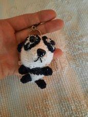Panda portachiavi amigurumi