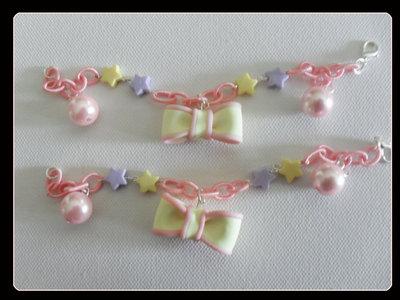 braccialetti fiocchetti+perline