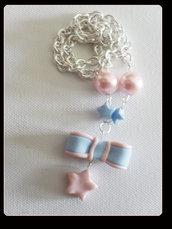 collana con fiocchetto+stella