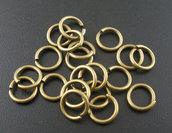 50 Anellini aperti bronzo 8mm