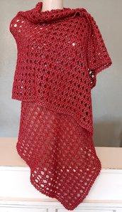 Scialle/Stola in lana merino con filo lurex