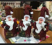 Babbo Natale decorativo, ferma porta.