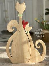 Coppia di gatti in legno massello by Creazioni GiaRó  Ⓒ