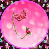 "Segnalibro ""Butterfly&Rose"" uncinetto"