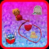 """Segnalibro """"Cat&Heart"""" uncinetto"""