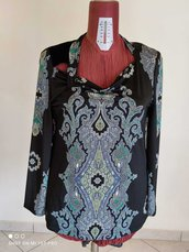 Casacca/ maglia elegante nero con stampa