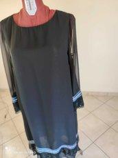 Abito/vestito  nero in georgette