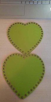 set  cofanetto modello cuore verde cm 15