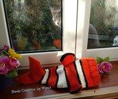 Cappello a maglia coi ferri, in lana, a forma di Pesce Nemo