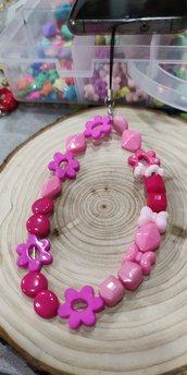Collana colorata portacellulare