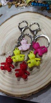 Portachiavi orsetti colorati