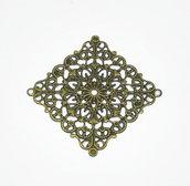 4 connettori quadrati filigrana bronzo