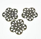 5 connettori fiore filigrana bronzo
