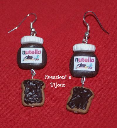Orecchini Fimo Nutella