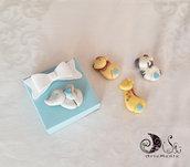 Scatoline fiocco portaconfetti bomboniere i piccini giungla animaletti decorazione ciondolo