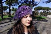 Cappello rosa/viola simil basco