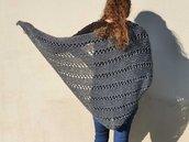 Scialle lana fatto a mano / scialle a maglia / scialle donna