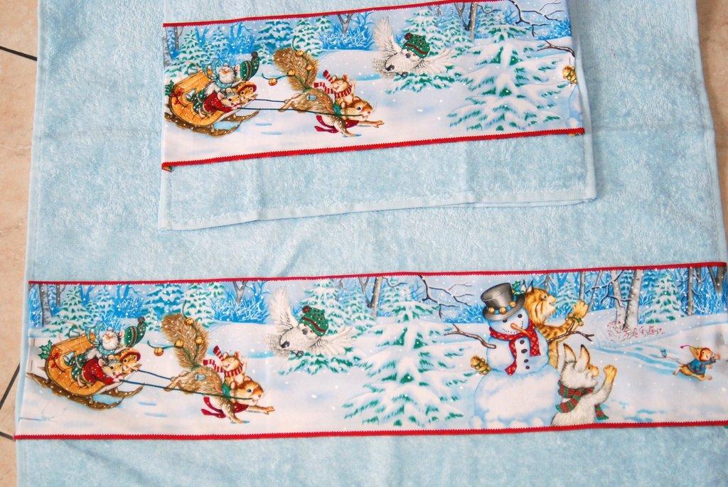 Coppia Asciugamani con soggetto Natalizio