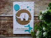 Invito / Battesimo / nascita / elefantino, palloncini.