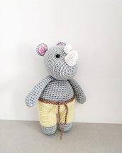 Pupazzo rinoceronte in cotone