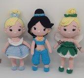 Principesse bambole Cenerentola, Jasmine e la fatinaTrilly.