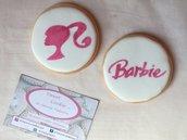 Festa a tema Barbie biscotti segnaposto bambina compleanno sweettable 6,8 cm