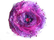 Fiore in organza ciclamino