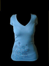 T-Shirt Blue Rose