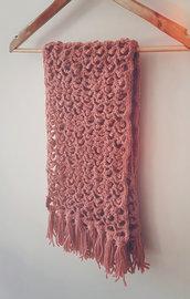 Sciarpa di lana corallo