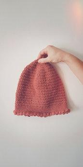 Cappello di lana corallo