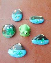 """Story Stones """"Il ciclo di vita della rana"""""""