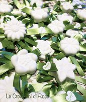 Gessetti profumati 80 segnaposto fiore verde Margherita matrimonio comunione