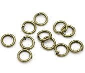 100 Anellini aperti 5mm colore bronzo