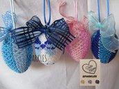 Uova decorate a mano con Perline - Idea Regalo per Pasqua