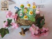 Pulcino perline fatto a mano – Pendente, idea regalo, Pasqua