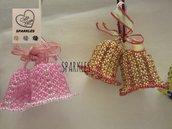 Campanelle di perline a coppia fatte a mano - Pasqua, idea regalo