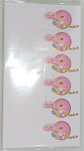 set 60 bigliettini nascita cartoncino decorazioni bomboniere sacchettini