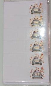 set 60 bigliettini matrimonio nozze cartoncino decorazioni bomboniere sacchettini