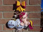 Fiocco Nascita Unicorno, Elefantino, Hello Kitty