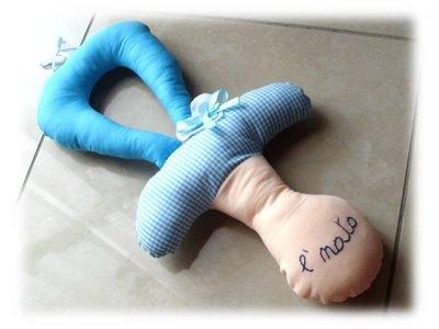 Ciuccio fiocco nascita- è nato