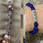 Braccali in Argento925 con perle o Lapislazzuli