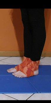 Calze per yoga/ calze per fitness / calze da danza fatte a mano all'uncinetto